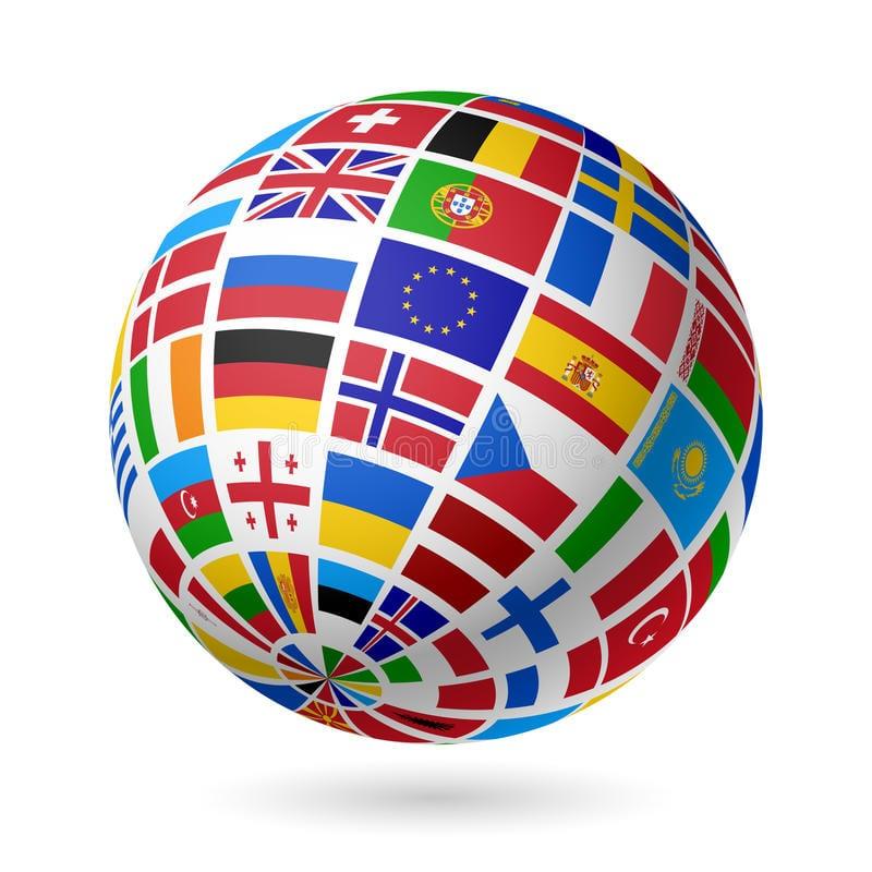 globo terraqueo con paises